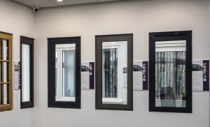 Aluminium window collection at the Everglade showroom